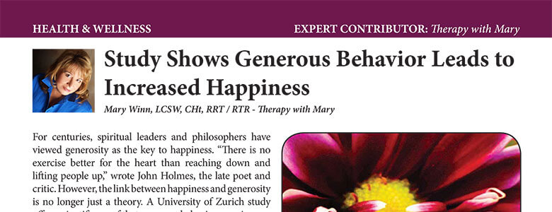 Study Shows Generous Behavior Leads to Increased Happiness